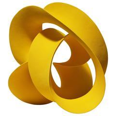 Yellow Twisted Loop by Merete Rasmussen