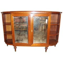 Maison Jansen Style Serving Console Credenza Custom Quality Curved Sided Server