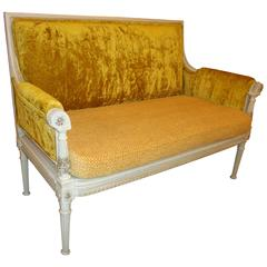 Antique Maison Jansen Style Settee in a Swedish Finish