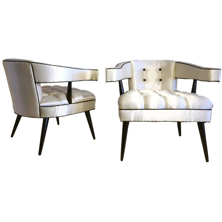 Superbe William U201cBillyu201d Haines Antiques Hollywood Regency Lounge Chairs For Sale