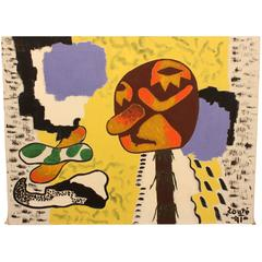 American Modernist Painting by Outsider Artist Zoute, circa 1941