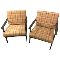 Pair of Mid-Century Modern Lounge Chairs in Style of Ib Kofod-Larsen