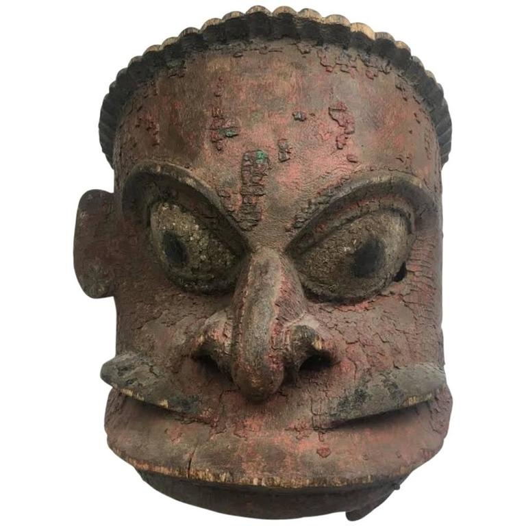 Large Antique Mask -Papua New Guinea, 19th Century