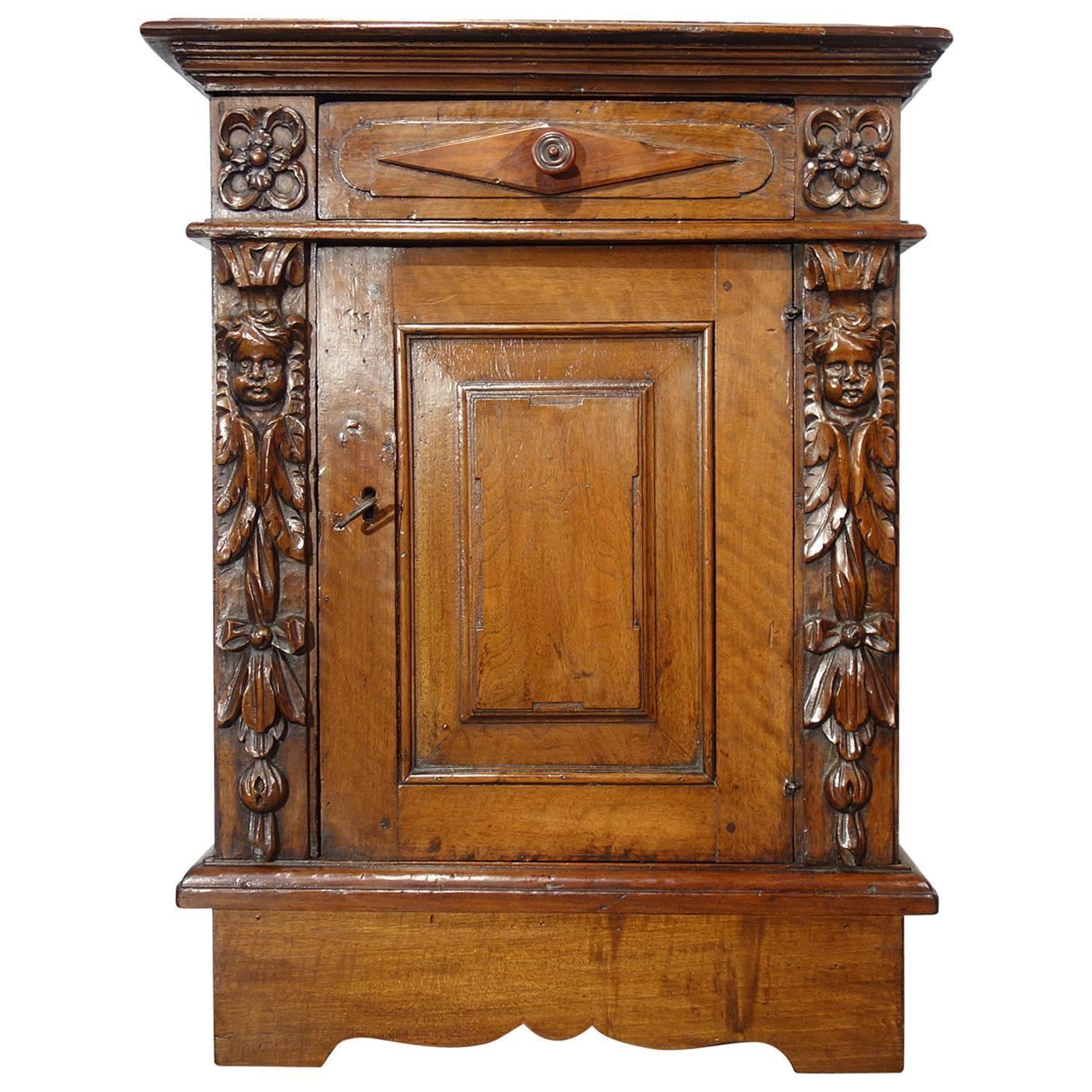 Furniture Consignment Encinitas Late 18th Century Antique Italian  Renaissance Style Walnut Single