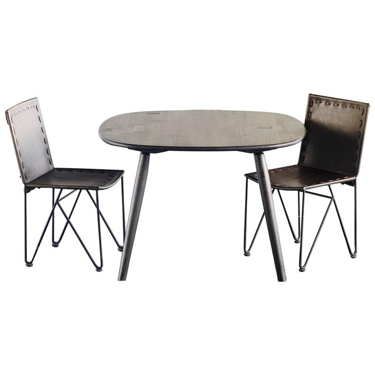 Modern Custom Oxidized Oak Dining Table from the Nomad Collection by Jacob May