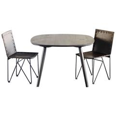 Small Oxidized Oak Dining Table from the Nomad Collection by Jacob May