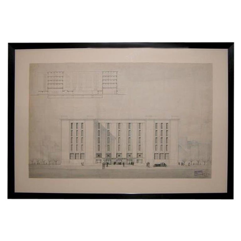 Grand-Scaled French Architectural Drawing