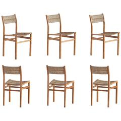 Pierre Gautier-Delaye Set of Six 'Week-End' Dining Chairs, France, 1950s
