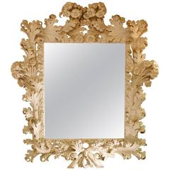 Spectacular Mirror in Wood in the Period, circa 1940 in Baroque Style