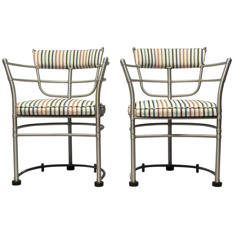 Pair of Warren McArthur Armchairs, Model 1044, 1933 to 1935 For Sale