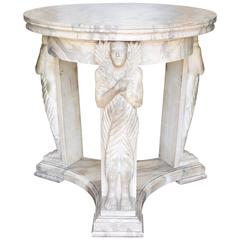 Italian Cipolino Marble Egyptian Revival Center Table, Second Half 19th Century