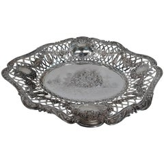 Large Antique German Neoclassical Silver Bowl