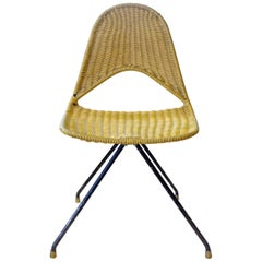 "Gastone Rinaldi, Mid-Century Modern Rare ""du68"" Yellow chair for Rima, 1958"