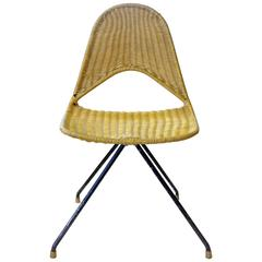 "Gastone Rinaldi, Mid-Century Modern Rare ""du68"" Yellow chair for Rima, 1958"