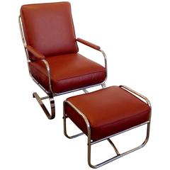 Springer Lounge Chair and Ottoman Kem Weber