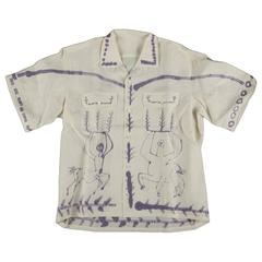 Pablo Picasso Designed and Numbered Shirt Edited by Bruno Compagnon, 1955