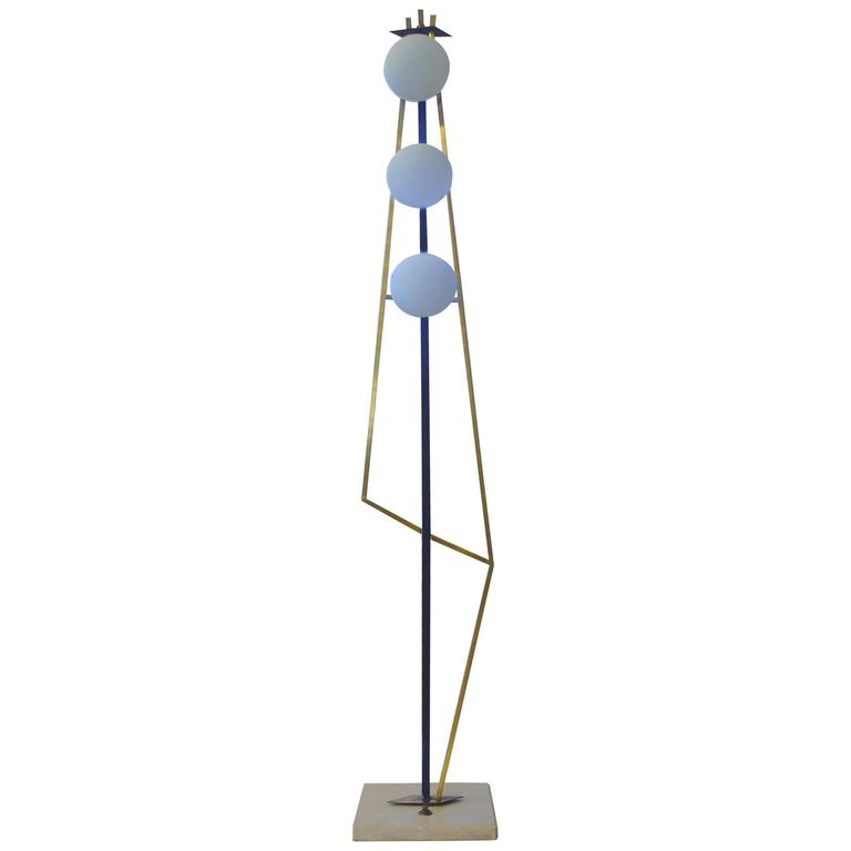 Geometric Floor Lamp, attributed to Stilnovo