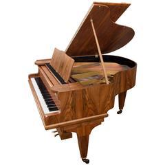 German Parlour Baby Grand Piano 1960s Mid-Century Modern Walnut Satin Case