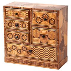 Miniature Victorian Marquetry Chest of Drawers