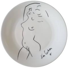 Mid-Century Decorative Porcelain Plate by Jean Cocteau Haviland, Limoge