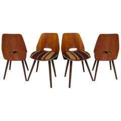 Four Vittorio Nobili Italian Midcentury Chairs