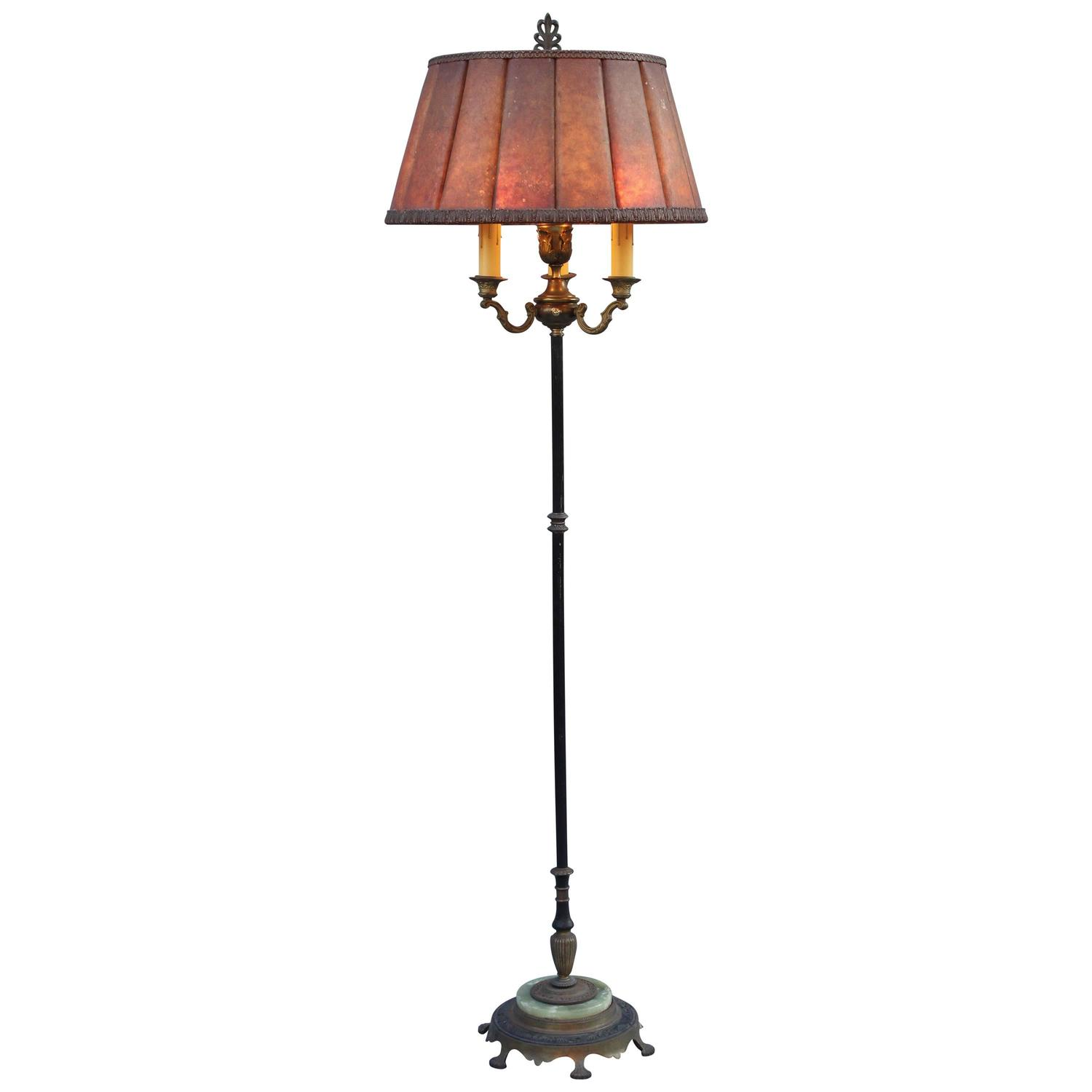 1920s floor lamp with original mica shade for sale at 1stdibs for 1920s floor lamps