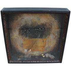 Bob Camblin Mixed Media Abstract Shadow Box
