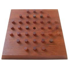 Piet Hein 'Solitaire' Rare Teak Board Game for Skjode, Denmark, 1960s