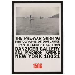 Don James Photography Exhibit Poster, Danziger Gallery, New York, 1998