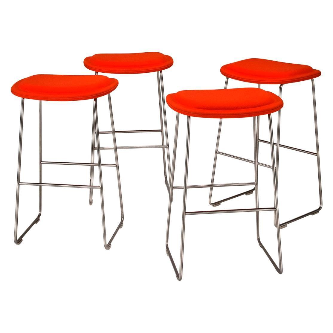 Outstanding Hi Pad Bar Stools Set Of Four By Jasper Morrison For Squirreltailoven Fun Painted Chair Ideas Images Squirreltailovenorg