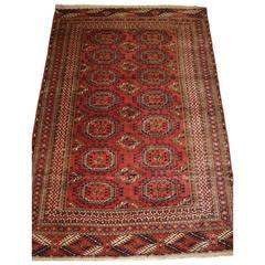 Antique Tekke Turkmen Rug of Small Size, Very Fine Weave, circa 1900