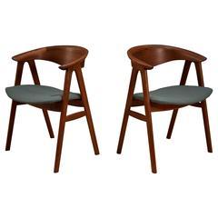 Danish Erik Kirkegaard Teak Dining Chairs