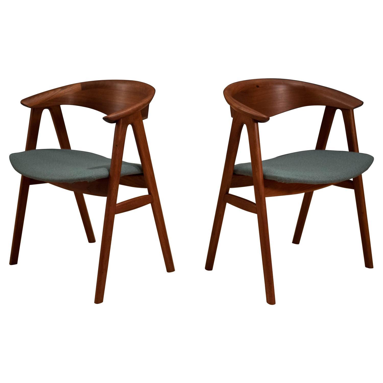 Danish Erik Kirkegaard Teak Dining Chairs For Sale At 1stdibs