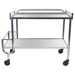 Art Deco Serving Bar Cart by Jacques Adnet