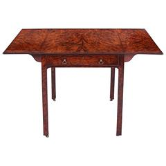 Antique Burr Yew Pembroke Table Attributed to Thomas Chippendale