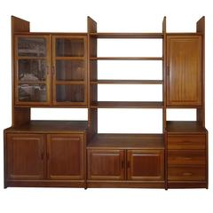 Sought After Vintage Original Danish XXXL Dyrlung Teak Wall Unit