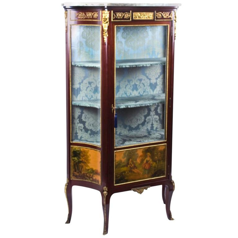Antique French Vernis Martin Vetrine Display Cabinet Circa 1870 For Sale At 1stdibs