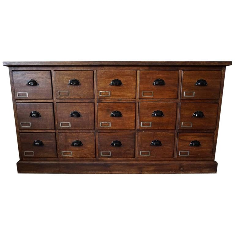 vintage french oak apothecary bank of drawers 1930s antique furniture apothecary general store