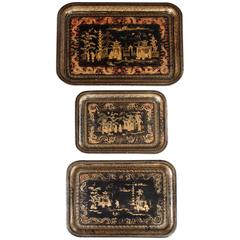 Set of Chinese Export Trays