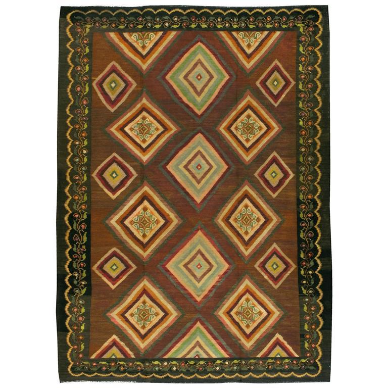 Vintage Turkish Flat Weave Rug: Vintage Turkish Flat-Weave Kilim Rug For Sale At 1stdibs