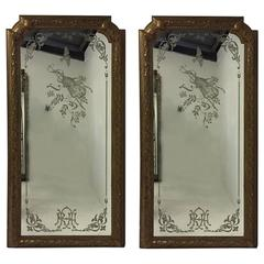 """A Magnificent Pair of 8' 6"""" tall Mirrors from the Royal Albert Hall in London"""