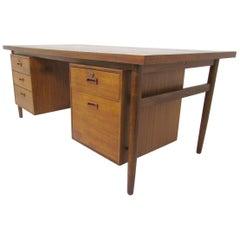 Mid-Century Modern Danish Teak Executive Desk
