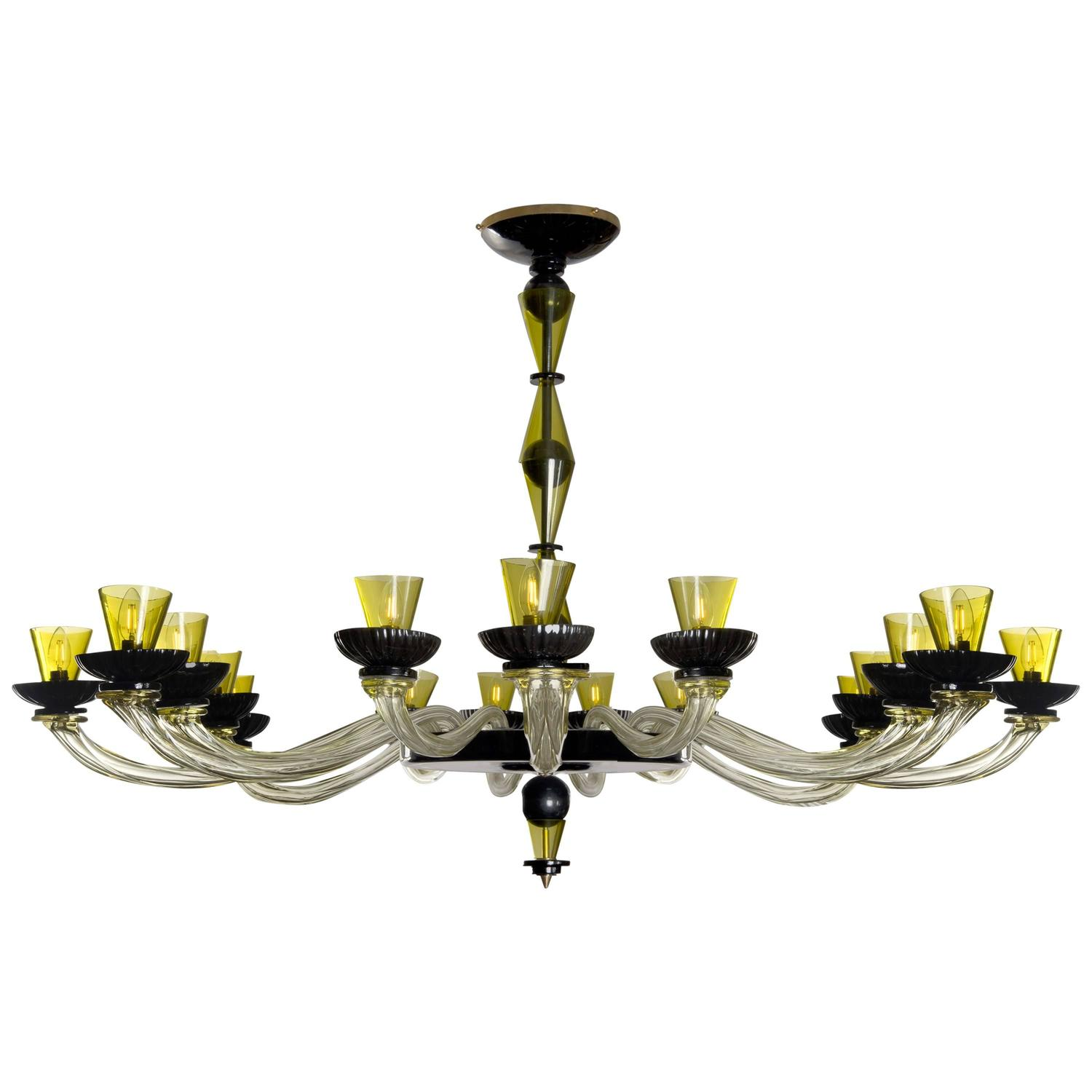 Murano Glass Chandelier Large: Large Cenedese Murano Glass Chandelier, Circa 1980 For