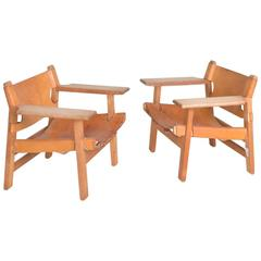 Pair of Early Spanish Chairs