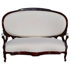 19th Century Sofa in the style of Napoleon Third Re-upholstered in Calico