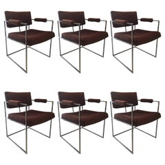 Cube Chrome Dining Chairs by Milo Baughman in COM/Priced Individually