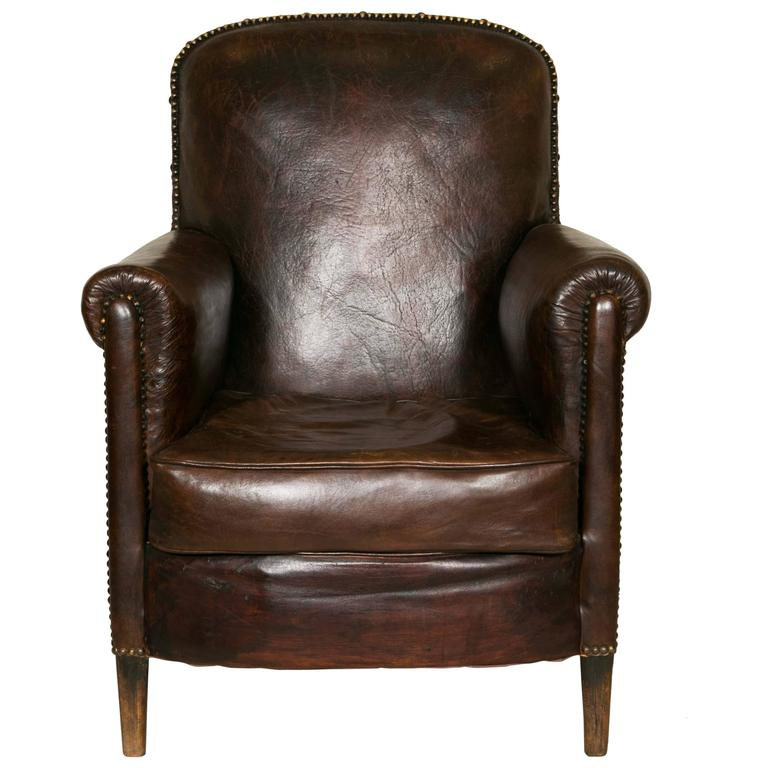 Comfortable Club Chairs From The 1930s Recovered In