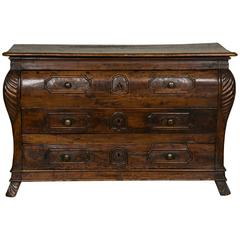 Fabulous Walnut Commode from the 18th Century, Continental, Period Louis XV