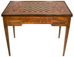 18th Century Games Table in Marquetry of Precious and Rare Woods