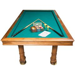 French Billiard Games Table from the Beginning of the 20th Century